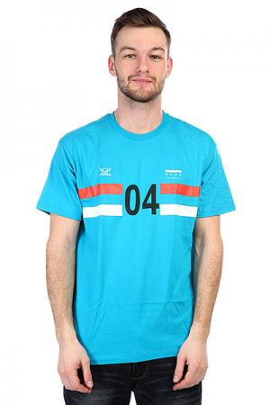 Футболка  Sport 04 Premium Turq Blue Fourstar. Цвет: ,голубой