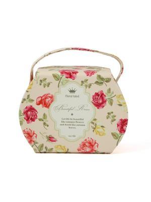 Шкатулка для ювелирных украшений Русские подарки. Цвет: серо-зеленый, бледно-розовый, красный