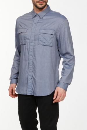 Рубашка Paul Smith. Цвет: серо-синий