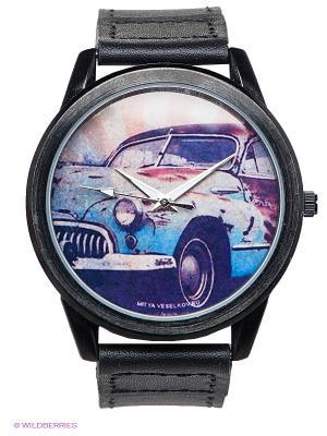 Часы Mitya Veselkov. Цвет: черный, голубой, персиковый
