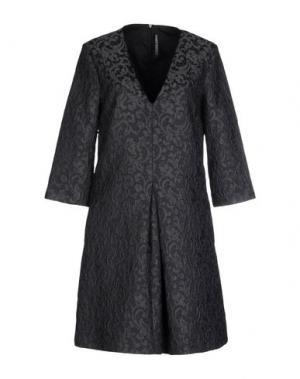 Короткое платье LIVIANA CONTI. Цвет: стальной серый