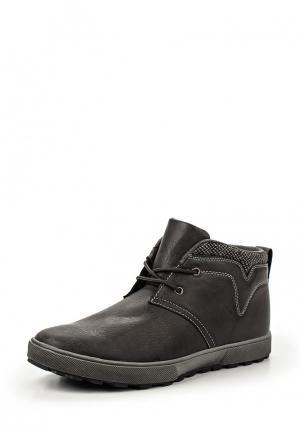 Ботинки Flair. Цвет: серый