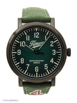 Часы TIMEX. Цвет: зеленый