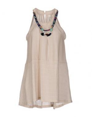 Короткое платье SOUVENIR. Цвет: бежевый