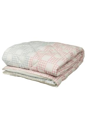 Одеяло 1,5 сп. Chalet Climat Control роза/грозовой Mona Liza. Цвет: бледно-розовый, белый