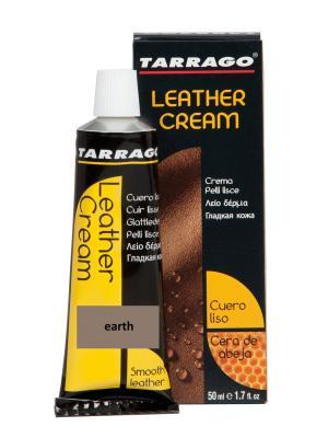 Крем тюбик с губкой Leather cream, БОЛЬШОЙ, 75мл. (earth) Tarrago. Цвет: серо-коричневый