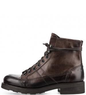 Коричневые ботинки из натуральной кожи O.X.S.. Цвет: коричневый