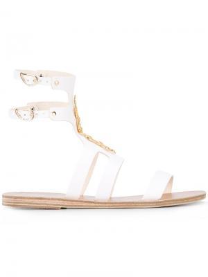 Босоножки Agapi Snakes Ancient Greek Sandals. Цвет: белый