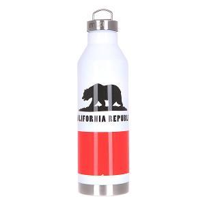 Бутылка для воды  V8 800ml California Flag Glossy White W Steel Cap Mizu. Цвет: белый