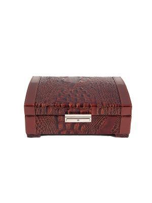 Шкатулка для ювелирных украшений (музыкальная) CALVANI. Цвет: коричневый, бежевый