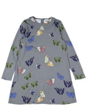 Платье MINI RODINI. Цвет: серый