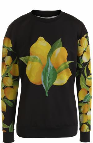 Пуловер с перфорированной спинкой и принтом Ultracor. Цвет: разноцветный