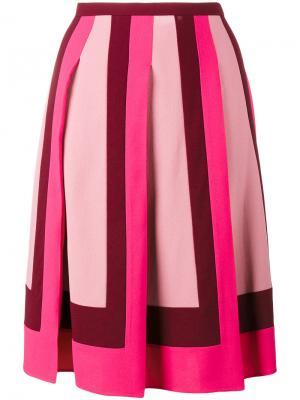 Плиссированная юбка Valentino. Цвет: розовый и фиолетовый