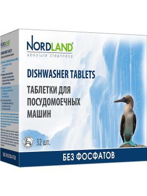 Nordland таблетки для всех типов посудомоечных машин, 32 х 20 гр.. Цвет: белый