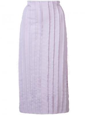 Плиссированная юбка с эффектом потертости Jonathan Cohen. Цвет: розовый и фиолетовый