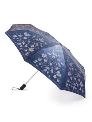 Зонт женский автомат Henry Backer. Цвет: синий