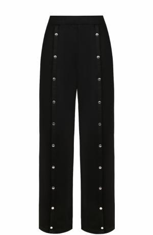 Широкие расклешенные брюки с карманами T by Alexander Wang. Цвет: черный