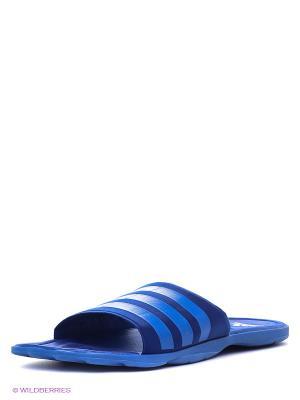 Шлепанцы Adidas. Цвет: синий