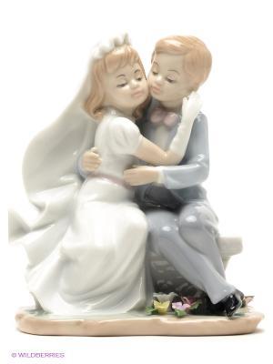 Статуэтка пара Знаменательный день Pavone. Цвет: серо-голубой, белый, светло-бежевый