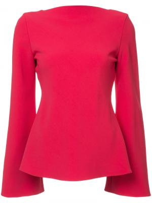 Блузка со складками на спине Brandon Maxwell. Цвет: красный