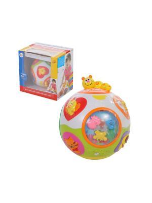 Игрушка детская Музыкальный мяч HUILE. Цвет: желтый, зеленый, красный, оранжевый
