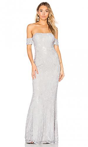 Вечернее платье andi Elle Zeitoune. Цвет: серый