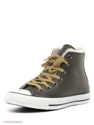 Кеды Converse. Цвет: оливковый, белый