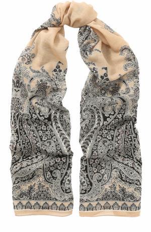 Шерстяной платок с узором Michele Binda. Цвет: разноцветный