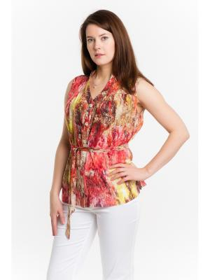 Блузки ESSA. Цвет: коралловый