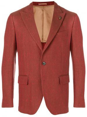 Пиджак с узором-елочкой Gabriele Pasini. Цвет: жёлтый и оранжевый