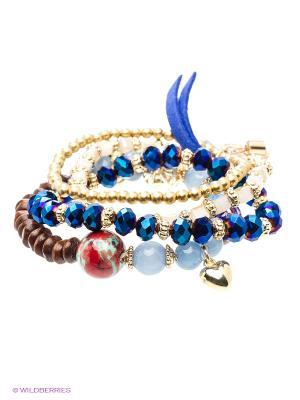 Браслет Royal Diamond. Цвет: золотистый, коричневый, синий