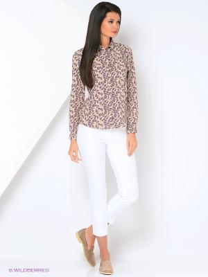 Блузка Milana Style. Цвет: бежевый