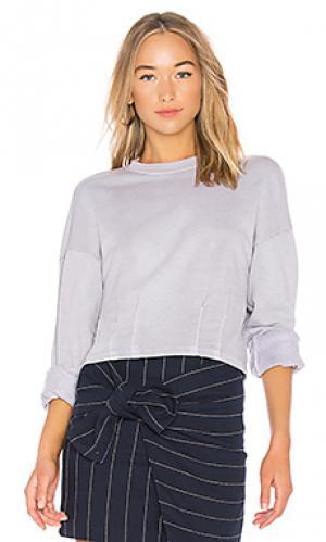 Пуловер из футера Stateside. Цвет: серый