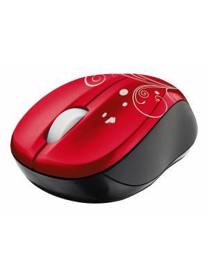 Мышь 17355  Trust Vivy Wireless Mini Mouse Red. Цвет: красный