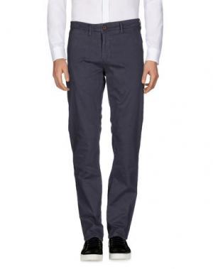 Повседневные брюки GNIOUS. Цвет: грифельно-синий