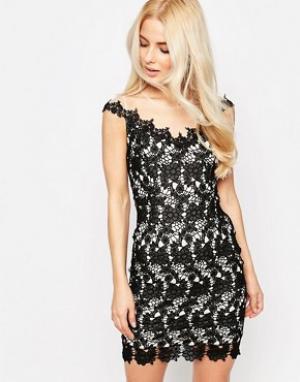 Sistaglam Кружевное платье Grace. Цвет: черный
