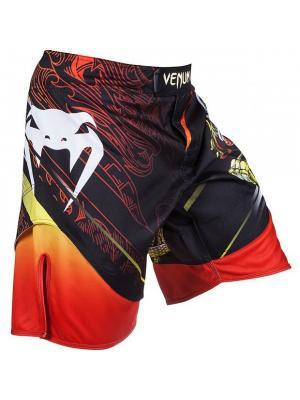 Шорты ММА Venum Lyoto Machida Tatsu King Fightshorts - Black/Orange. Цвет: оранжевый, черный