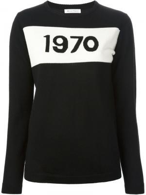 Джемпер `1970` Bella Freud. Цвет: чёрный
