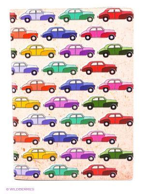 Обложка для автодокументов Цветные машинки Mitya Veselkov. Цвет: кремовый, зеленый, фиолетовый