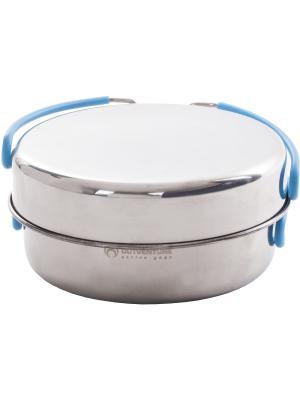 Набор посуды для приготовления OUTVENTURE. Цвет: серебристый, синий