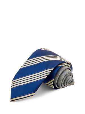 Галстуки CASINO. Цвет: синий, темно-бежевый