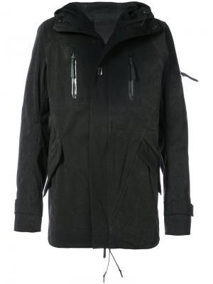 Куртка с капюшоном 11 By Boris Bidjan Saberi. Цвет: чёрный