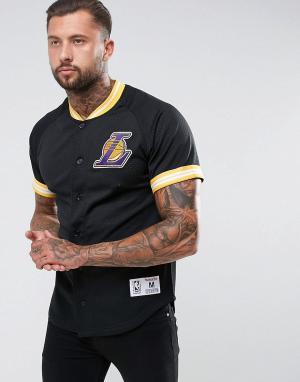 Mitchell & Ness Сетчатая футболка NBA L.A Lakers. Цвет: черный