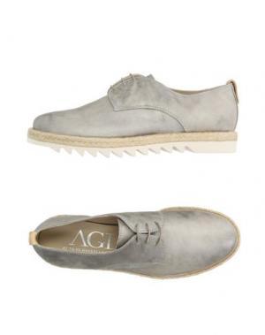 Обувь на шнурках AGL ATTILIO GIUSTI LEOMBRUNI. Цвет: серый