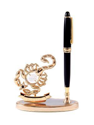 Подставка под ручку - знак зодиака Скорпион CRYSTOCRAFT. Цвет: золотистый, черный