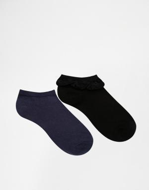 Lovestruck Комплект из 2 пар подследников для кроссовок с кружевом ASOS
