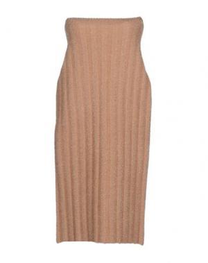 Короткое платье GAETANO NAVARRA. Цвет: песочный