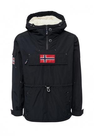 Куртка утепленная Fergo. Цвет: черный