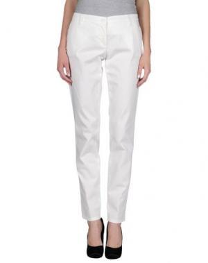 Повседневные брюки UZÈS. Цвет: слоновая кость