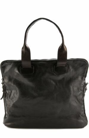 Кожаная сумка с плечевым ремнем Numero 10. Цвет: черный